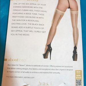 70735271f Baci Accessories - Opaque Cuban Heel Thigh Highs Baci Queen Lingerie